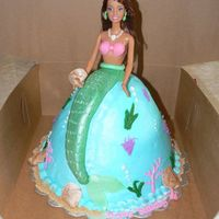 Mermaid All buttercream with fondant accents