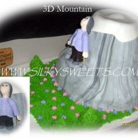 "3D Mountain  I got my inspiration from biviana's mountain cake, customer wanted a peak that was round and not pointy. The 95 yr old ""hiker&..."