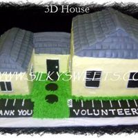 "3D House  I donated this to a low income small apartment complex unit that local volunteers helped build. It is for their ""open house""..."