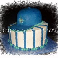 3D Baseball Whimsy   All buttercream. FBCT for the logo.