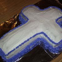 Cross Cake I made this cake for a dinner at church. It was sooo hard to decorate because of the shape!!