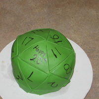 D&d Die Not the best, but I tried. I figured I'd put it up in case someone else is challenged to do a 20 sided die. It was fine, not great,...