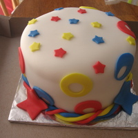 Carnival Primary colors and fun shapes in MMF cover this gluten free pineapple cake done for our school's carnival