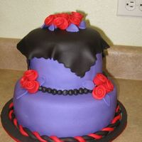 """not So"" Sweet 16 Made for a girl who hates pink and loves to wear black, red, and purple. Not goth, or so she says, but more like a dark Mary Engelbreit..."