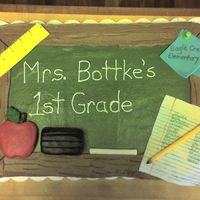 Another Chalkboard Made this for my son's back to school party. Thanks to all the ccers for inspiration especially jamiet. Cake is buttercream with...