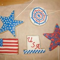 4Th Of July Cookies NFSC with Antonia's icing. Inspired by all the other great CC cookie bakers!