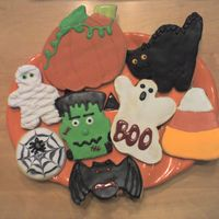 Halloween Cookies These are NFSC with antonia74 icing. Made them for my boys' teachers for Halloween.