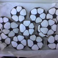 Soccer Cookies I made these last minute for snack after my son's soccer game. I had a hard time getting the pentagon even. Next time I think I'...