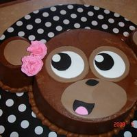 Birthday Cake Justice Clothing Monkey  Birthday cake for a friends daughter that loves the Justice Clothing Monkey. It was a surprize and made her smile. Sometimes simple is the...