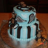Monkey First Birthday Made this for a birthday boy turning one. I made it with a house full of guests and a bunch of stress...so it could have been better.......