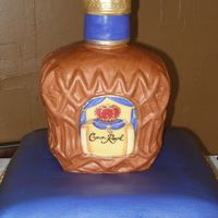 Crown Royal On Pillow Sculpted bottle and pillow covered in my favorite fondant Fondarific.
