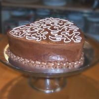Chocolate Chai Mocha Cake This is my new creation, a four layer chocolate cake moistened with kahlua syrup with alternating chai and mocha buttercream filled layers...