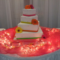 Wedding Cake square wedding cake done in buttercream frosting , thought this might not turn out so well when the bride gave me the colors but everyone...