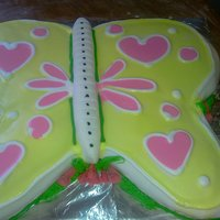 Butterfly Butterfly cake with strawberry shortcake filling