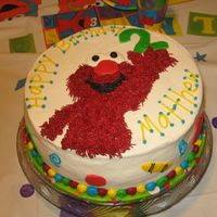 Elmo Cake This is the cake I did for my sons 2nd birthday. It was inspired by a cake done by stephaniescakenj. This was such a un cake to do. Elmo...