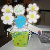 Cookie Bouquet I did this for my nephew's teacher for his end of the year gift.