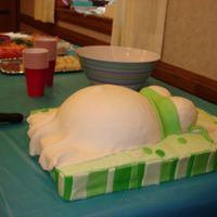 Belly Cake Side Just a side view of the cake!