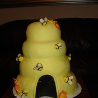Beehive   I made this for the closing social at the school where I work. We're the bees, in case you couldn't guess!