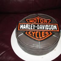 Harley Davidson Cake   Much better this time, the colorflow actually came off in one piece :).