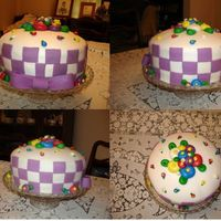 Mary Engelbreit Style Cake My checkerboard didn't come out even, which was a bummer, but this is only the third time I've worked with fondant, so I really...