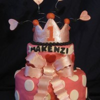 Princess Cake I made this cake to match the decorations, the bow and crown are gumpaste.