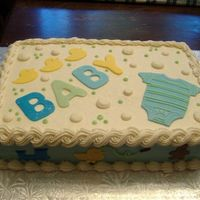 Baby Boy Shower Cake butterceam with fondant details