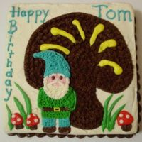 Gnome Cake For Tom   A little garden gnome, all done in buttercream. Thanks for looking :)