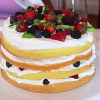"Martha Stewart's Fresh Berry Layers This is my version of the cake that Martha is holding on the cover of her book, ""Martha Stewart's Baking Handbook."" The cake..."