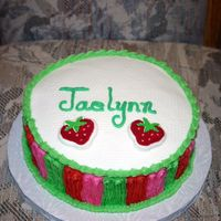 "Smash Cake For Jaelynn This goes with the cake entitled ""Happy 1st birthday Jaelynn"". It is a yellow marbled cake with buttercream icing. Some of the..."