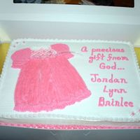 A Precious Gift From God... Mother-to-be requested a chocolate cake with white buttercream icing. The family already has two boys and are expecting a baby girl;...