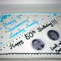 Church Anniversary & Surprise 50Th Birthday Cake This cake was for my pastor's 4th church anniversary. It was combined with a surprise 50th birthday party for my pastor and his wife....