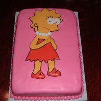Lisa Simpson   My first experience with MMF! It turned out better than I expected and the kids actually ate the fondant!