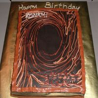 Yu-Gi-Oh Card Cake My oldest son is a huge fan of Yu-Gi-Oh, so I copied the back of the card for his birthday cake. IMBC for all the decorating.