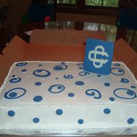 Catholic Central Graduation Cake  My first experience with a half sheet cake. I learned alot about torting and fixing mistakes on this one :). Chocolate cake with IMBC icing...