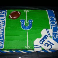 Colts Football I made this for my brother-in-law's 31st birthday. Of course he is a HUGE Colts fan!