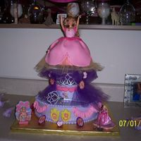 Princess Genevieve 12 Dancing Princesses   I made this for my Granddaughter's birthday. It is all buttercream except for the skirt on the Princess Genevieve. That is fondant.