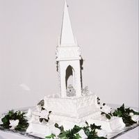 Castle Wedding Cake   The bride wanted a fairytale wedding based on Cinderella and the cake to be all white.