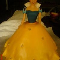 Snow White Cake Topper this was inspired by the snow white doll cake i saw from kats0916..this was for the top of a 10-inch round cake which was part of a 3 tier...