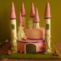 Dsc00562.jpg i thought i was not going to make at least a castle-look-a-like cake for my daughter's bday.i baked the cake the night before and put...
