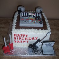Music Creator 21 St Birthday. Chocolate cake with raspberry BC. All decorations made from sugar paste. Thanks for looking.