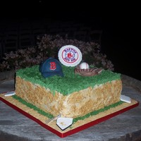 Red Sox Fan Grooms Cake. Devils food cake with Kahlua BC. My Grandmother (Superstar) and I had the honor of making my cousin's groom's cake and since he&#...