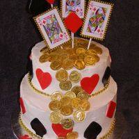 Casino Theme Cake  This is my first posting to Cake Central. I am a brand new decorator and this is my first cake of this magnitude. All for my daughter'...
