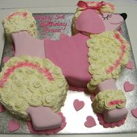 Poodle   Buttercream and icing poodle cake