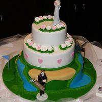Golfers Wedding Cake loved this idea , made it up for an expo at a golf course looked good , ideas from a few birthday cakes I have seen