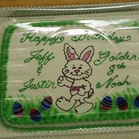 Easter Bunny An Easter cake for a lady who was celebrating Birthdays also.