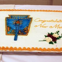 National Honor Society Hi,Here is a cake that was ordered for our High School's National Honor Society Induction ceremony. It was a special cake for me to do...