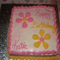 Birthday Cake An extra for my daughter's birthday. Chocolate cake with raaspberry filling and hazelnut icing. Unfortunately when I did this I crumb-...