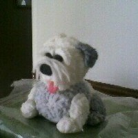 Gumpaste Sheepdog Figure Old English Sheepdog made from gumpaste