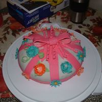 Welcome Home Sissy Not a class cake but my very first attemp at fondant cake with gumpaste flowershad to make in 12 hours