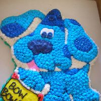 Blue's Clues Cake!  My 2nd cake. Blue from Blue's Clues, supposed to be a birthday cake. The notebook got a bit messed up when i was putting it into my...